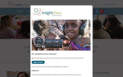 Screenshot of Services Page insightshare.org - Services - InsightShare - captured Nov. 6, 2018