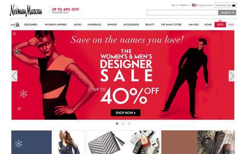Screenshot of Home Page neimanmarcus.com - Designer Apparel, Shoes, Handbags, & Beauty | Neiman Marcus - captured Nov. 25, 2015