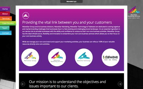 Screenshot of About Page waivestar.com.au - About Us   WaiveStar Marketing Services - Print Management - captured Oct. 27, 2014