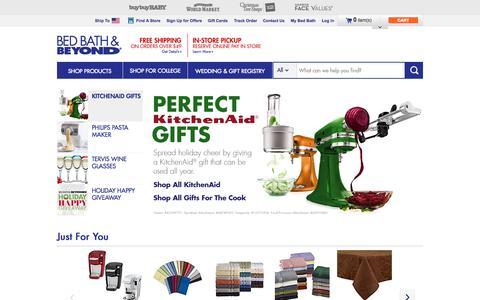 Screenshot of Home Page bedbathandbeyond.com - Bedding, Bath Towels, Cookware, Fine China, Bridal & Gift Registry  - BedBathandBeyond.com - captured Nov. 11, 2015