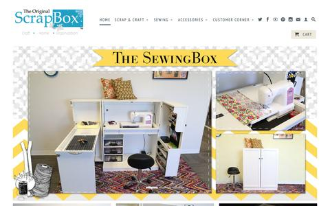 Screenshot of Home Page theoriginalscrapbox.com - The Original ScrapBox - captured Jan. 11, 2016