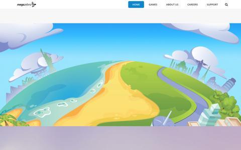 Screenshot of Home Page megazebra.com - MegaZebra – We craft kickass games - captured July 3, 2016