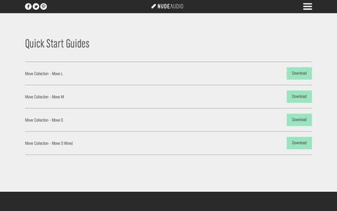 Screenshot of Support Page nudeaudio.com - Travel speaker support   NudeAudio - captured Sept. 24, 2014