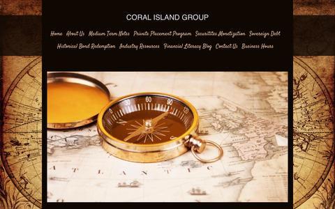 Screenshot of Site Map Page coralislandgroup.com - Coral Island Group - Home - captured Nov. 11, 2016
