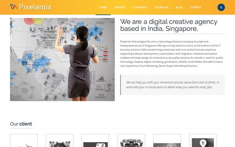 Screenshot of About Page pixelantix.com - Digital and Web Solutions Agency in India and Singapore - captured Nov. 16, 2016