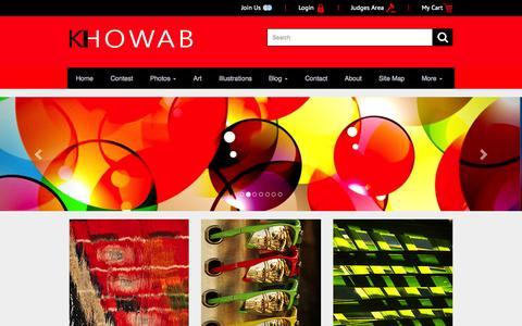 Screenshot of Home Page khowab.com - Khowab | online photo competition home - captured Sept. 6, 2015
