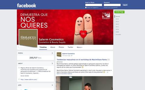 Screenshot of Facebook Page facebook.com - Salerm Cosmetics - Barcelona, Spain - Cosmetics & Beauty Supply | Facebook - captured Oct. 23, 2014