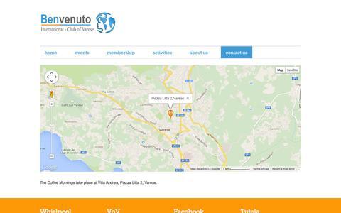 Screenshot of Maps & Directions Page benvenutovarese.org - Benvenuto Map - captured Oct. 5, 2014