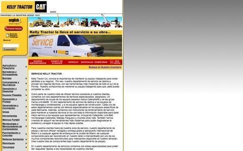Screenshot of Landing Page kellytractor.com - Kelly Tractor Co. Servicio - captured Aug. 12, 2016