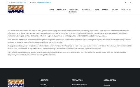 Screenshot of Terms Page scottland.ca - Legal - Scott Land & Lease Ltd. - captured Oct. 2, 2018
