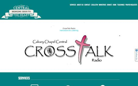 Screenshot of Home Page calvarycentral.org - Calvary Central » Bringing Jesus to the Heart of Phoenix - captured Sept. 30, 2015