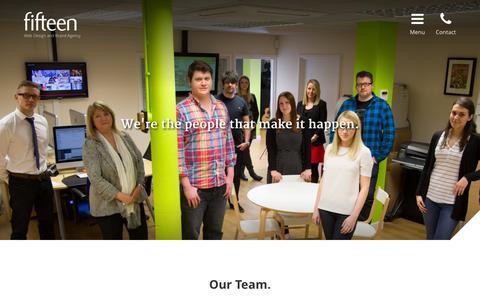 Screenshot of Team Page fifteendesign.co.uk - Our Team - Fifteen Design - captured Oct. 14, 2015