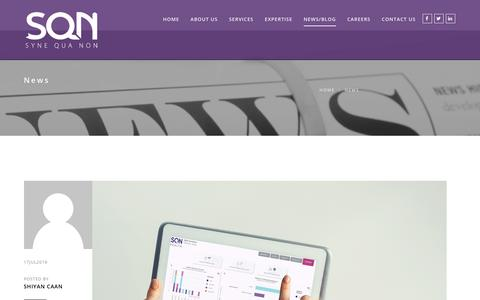Screenshot of Press Page synequanon.com - News Archives   SQN Clinical - captured Sept. 21, 2018