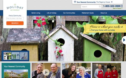Screenshot of Home Page holidaytouch.com - Holiday Retirement - captured Sept. 23, 2014