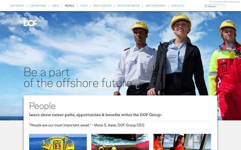 Screenshot of Team Page dof.no - DOF People - captured Oct. 25, 2014
