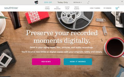 Screenshot of Pricing Page southtree.com - Southtree | Convert Home Movies to DVD - captured June 8, 2018