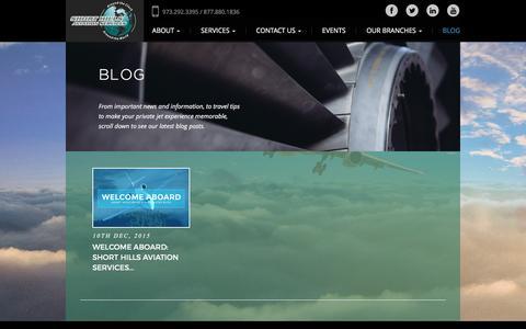 Screenshot of Blog shorthillsaviation.com - Blog: Short Hills Aviation Services - captured Feb. 14, 2016