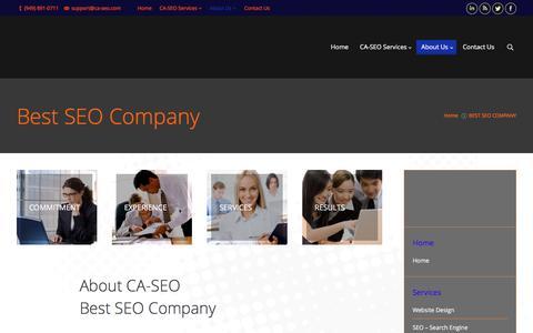 Screenshot of About Page ca-seo.com - BEST SEO COMPANY  | CA-SEO web marketing Services | - captured Dec. 6, 2015