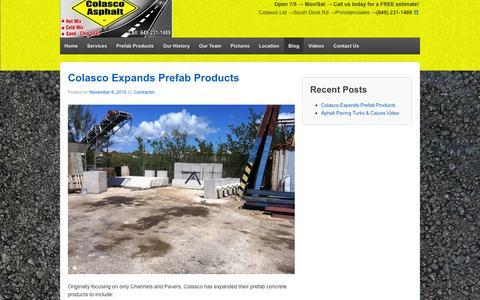Screenshot of Blog pavingcontractortci.com - Blog - Colasco Ltd - captured Jan. 29, 2016