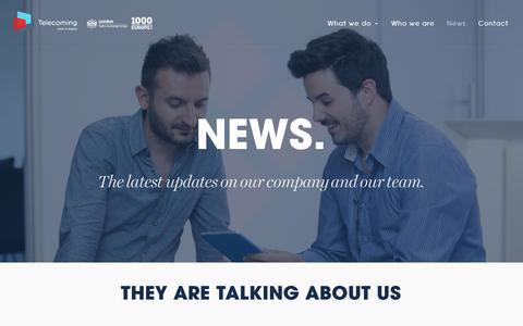 Screenshot of Press Page telecoming.com - News   Telecoming - captured Nov. 18, 2016