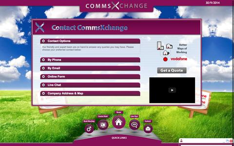Screenshot of Contact Page commsxchange.com - Contact Us | Business Mobiles, Contracts and Deals - captured Sept. 30, 2014