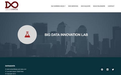 Screenshot of Home Page data-and-data.com - DATA&DATA - captured Oct. 5, 2014