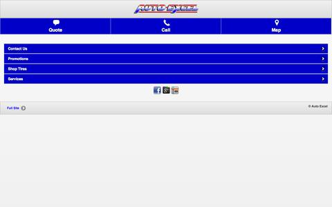 Screenshot of Home Page autoexcel.com - Auto Excel | Akron, OH Tires And Auto Repair Shop - captured Jan. 21, 2015