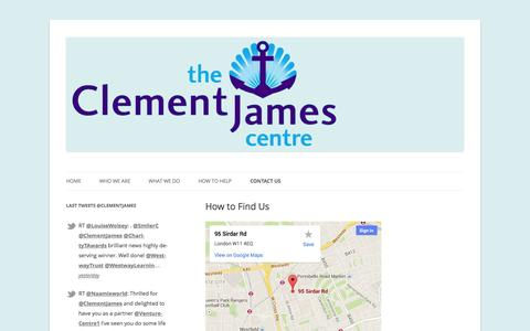 Screenshot of Maps & Directions Page clementjames.org - How to Find Us   - captured Oct. 26, 2014