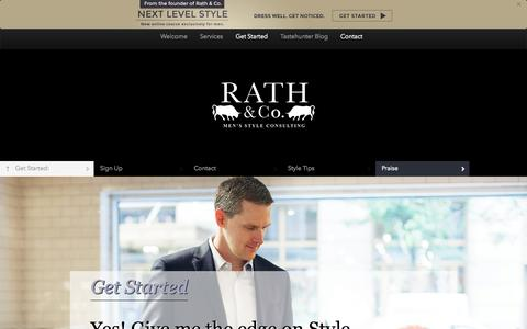 Screenshot of Contact Page rathandco.com - Get Started | Rath & Co. - captured Oct. 6, 2014