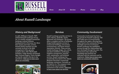 Screenshot of About Page russelllandscapegroup.com - Russell Landscape About Us - captured Dec. 17, 2016