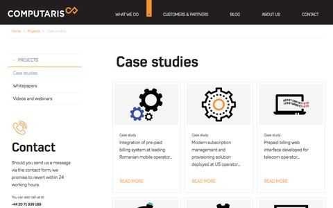 Screenshot of Case Studies Page computaris.com - Case studies | Computaris - captured July 15, 2016