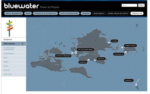 Screenshot of Locations Page bluewater.com - Office locations | Bluewater - captured Oct. 5, 2014