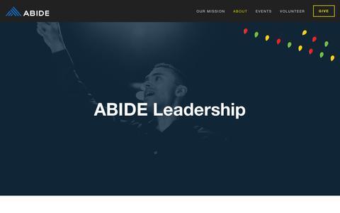 Screenshot of Team Page abideomaha.org - Leadership — ABIDE - captured Dec. 17, 2018