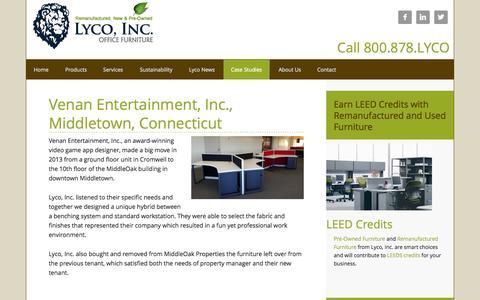 Screenshot of Case Studies Page lycoinc.com - Case Studies - captured Nov. 2, 2014