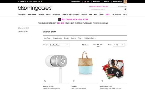 Best Gifts Under $100 - Bloomingdale's