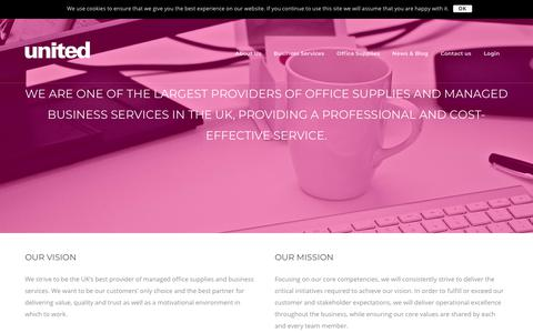 Screenshot of About Page united-uk.com - About Us - United Managed Services - captured Oct. 18, 2018