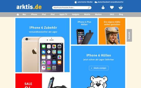 Screenshot of Home Page arktis.de - arktis.de | Autorisierter Apple Händler | iPhone, iPad & Mac - captured Sept. 19, 2014