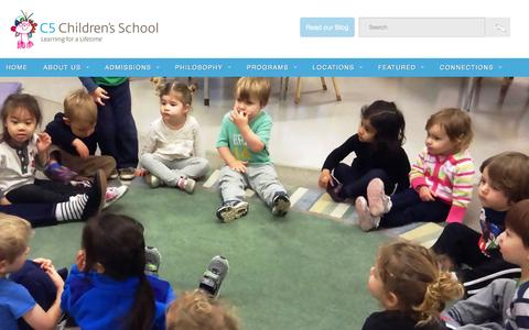 Screenshot of Home Page c5children.org - C5 Children's School   Learning for a Lifetime! - captured Jan. 23, 2016