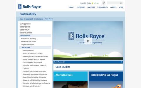 Screenshot of Case Studies Page rolls-royce.com - Case studies – Rolls-Royce - captured Nov. 17, 2015