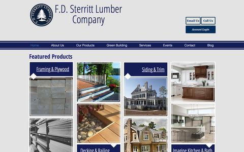 Screenshot of Home Page sterrittlumber.com - sterrittlumber - captured March 22, 2019