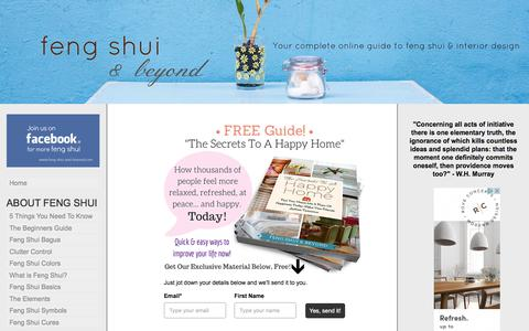 Screenshot of Home Page feng-shui-and-beyond.com - Feng Shui And Beyond   Innovative Ways To Develop Happiness In Your Home - captured June 26, 2017