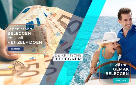 Screenshot of Home Page dekritischebelegger.nl - Intro - De Kritische Belegger - captured Dec. 9, 2018