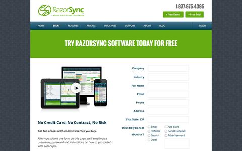 Free Trial of RazorSync Software for Field Service Businesses