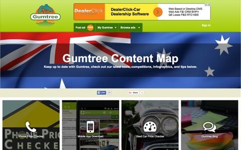 Screenshot of Site Map Page gumtree.com.au - Gumtree Content Map | Gumtree Australia Free Local Classifieds - captured Nov. 24, 2015
