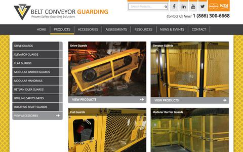Screenshot of Products Page conveyorguarding.com - Products - Belt Conveyor Guarding - captured Oct. 10, 2017
