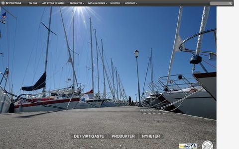 Screenshot of Home Page sfpontona.se - SF Pontona Sverige AB - captured Sept. 30, 2014