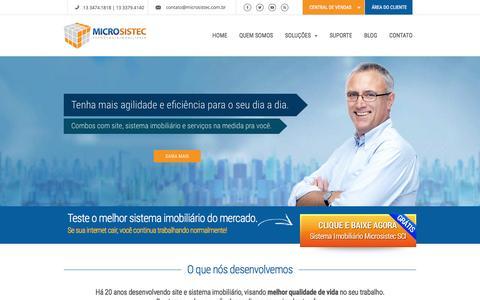 Screenshot of Home Page microsistec.com.br - Site para Imobiliária Microsistec - 5000 corretores aprovam! - captured Jan. 20, 2016
