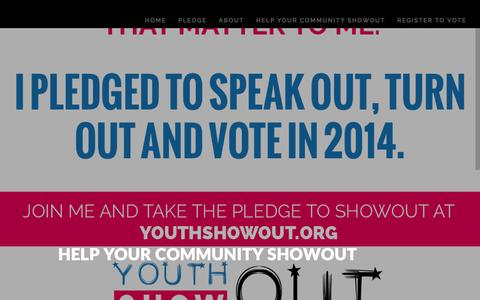 Screenshot of Signup Page youthshowout.org - Youth ShowOUT Help Your Community ShowOUT - Youth ShowOUT - captured April 11, 2016