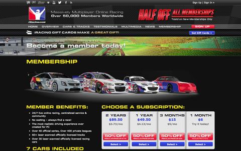 Screenshot of Signup Page iracing.com - Join iRacing today and start your online racing career | iRacing.com - captured Sept. 18, 2014