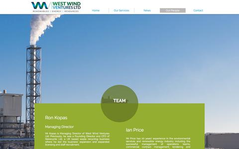 Screenshot of Team Page westwindventures.com - West Wind Ventures Ltd | Our People - captured Nov. 8, 2017